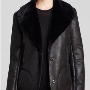 French Connection faux fur/vegan coat